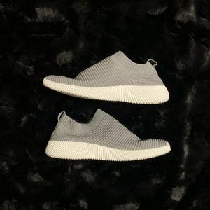 Grey sock material sneakers